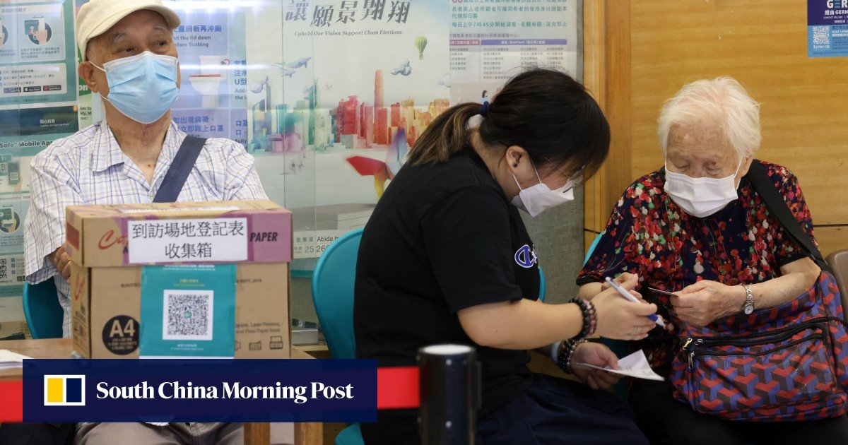 Image Coronavirus Hong Kong: health workers take vaccination push directly to elderly residents in bid to boost low take-up rate