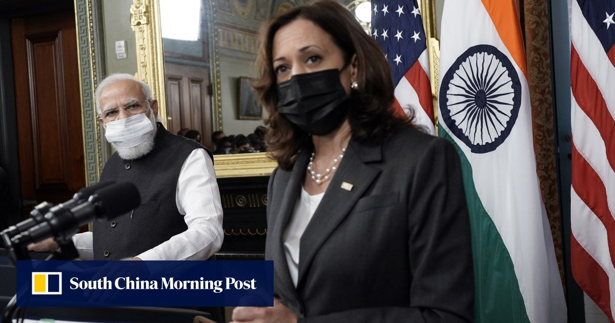 Picture - Kamala Harris gently presses Indian PM Narendra Modi on human rights during US meeting