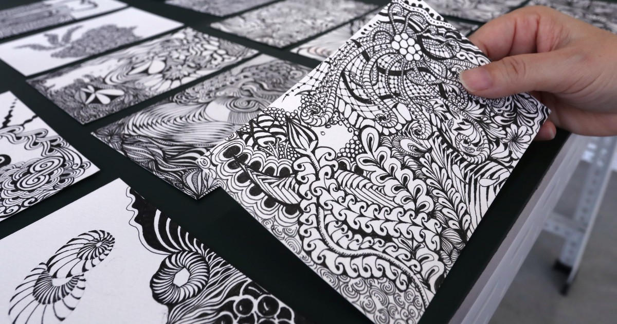 Forget adult colouring books – Zentangle is the new way to