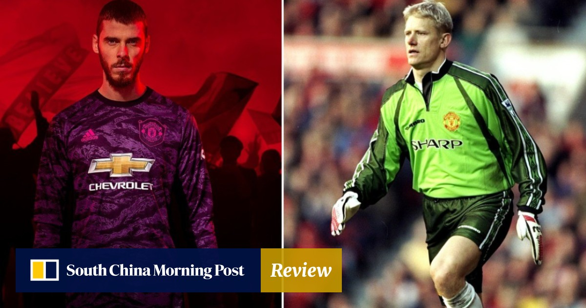 2bd9e28e16b Manchester United s new kit celebrating 1999 treble gets colour of  goalkeeper shirt wrong