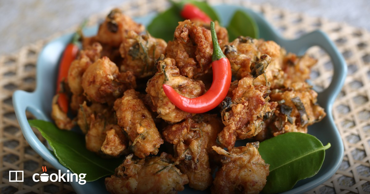 Quick Thai fried chicken with lemongrass