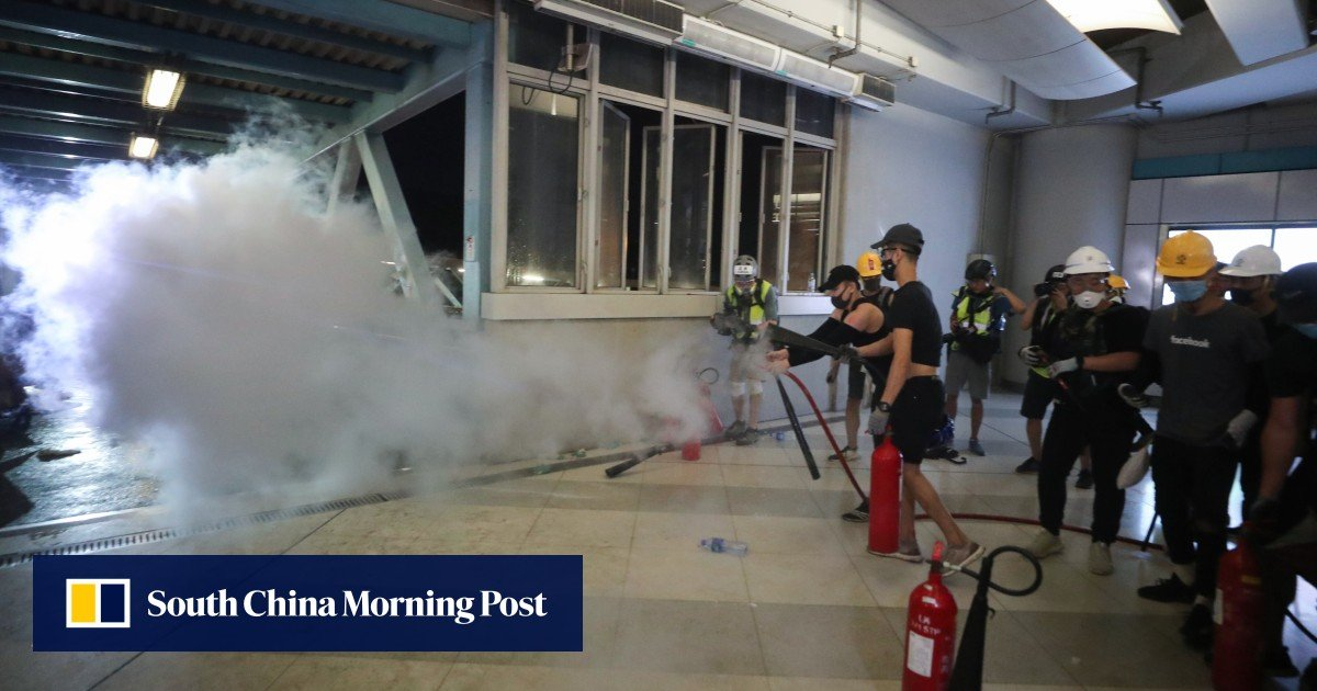 As it happened: bloody clashes and tear gas fired as Hong