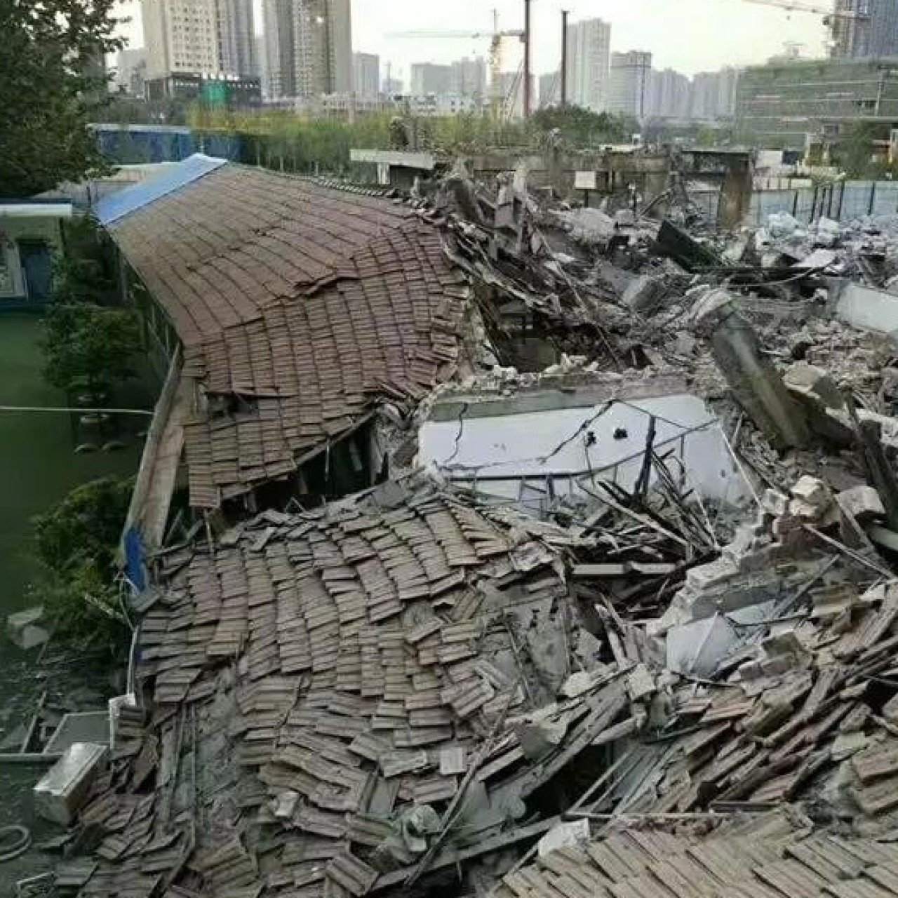 Chinese kindergarten flattened by falling debris from Country Garden