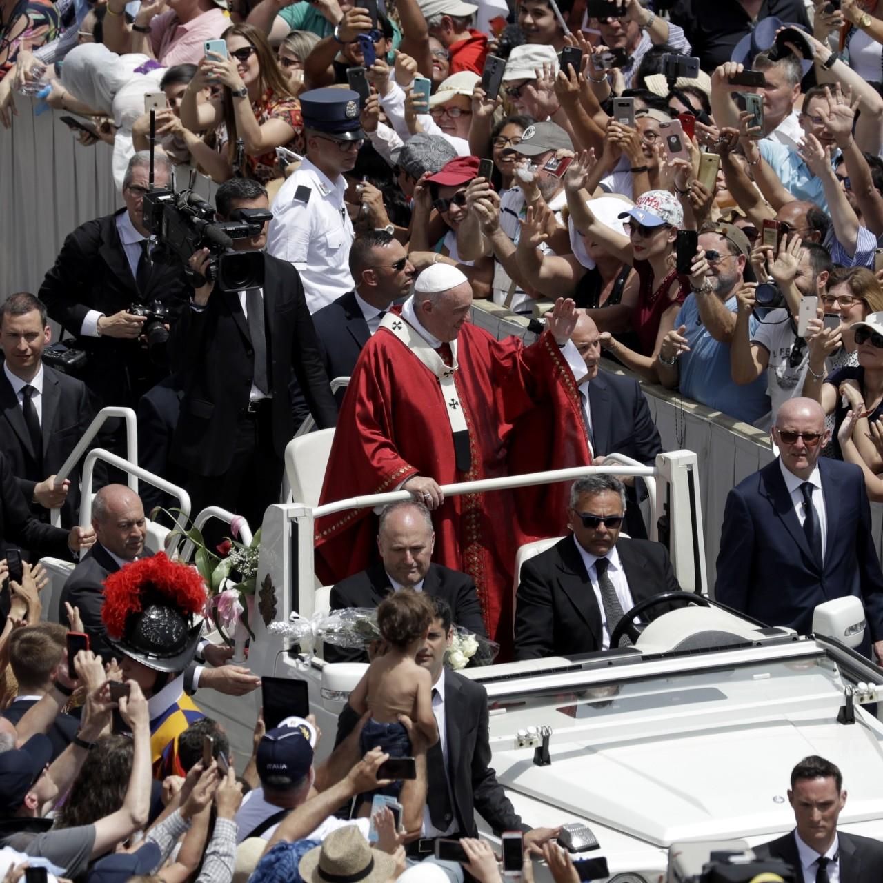 Pope raises Irish church abuse in first Vatican speech since claims