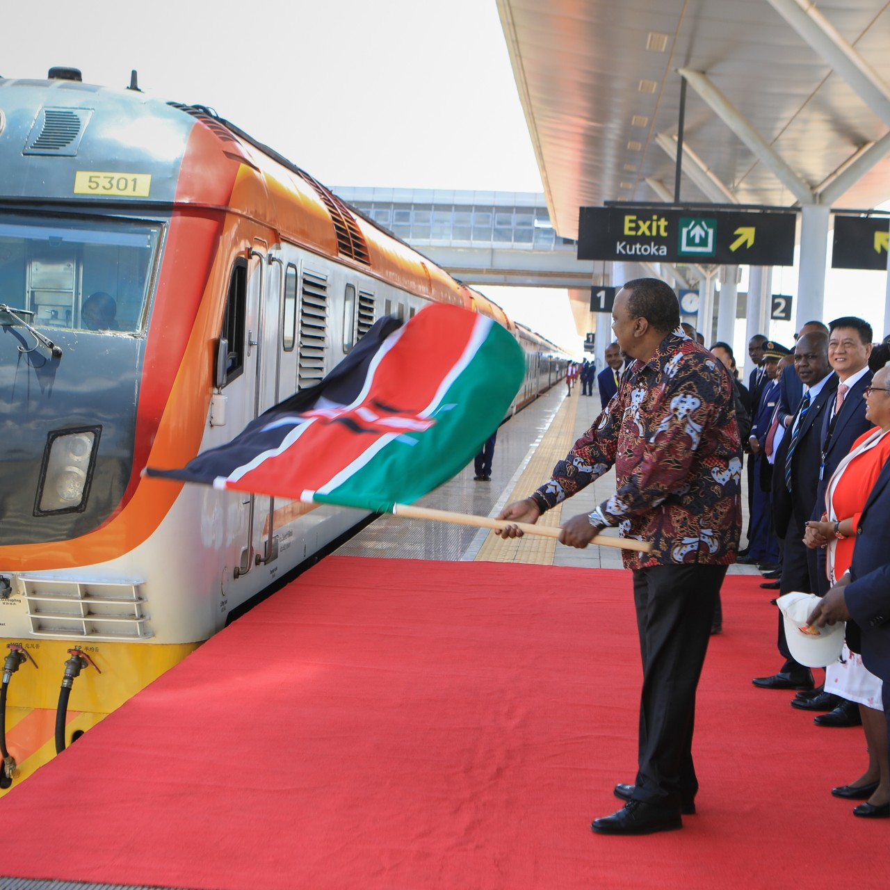China Exim Bank has funded the belt and road project of a Standard Gauge Railway passenger train from Mombasa to Naivasha in Kenya but is now demanding a commercial viability study before releasing money to fund the link to Malaba. Photo: EPA-EFE