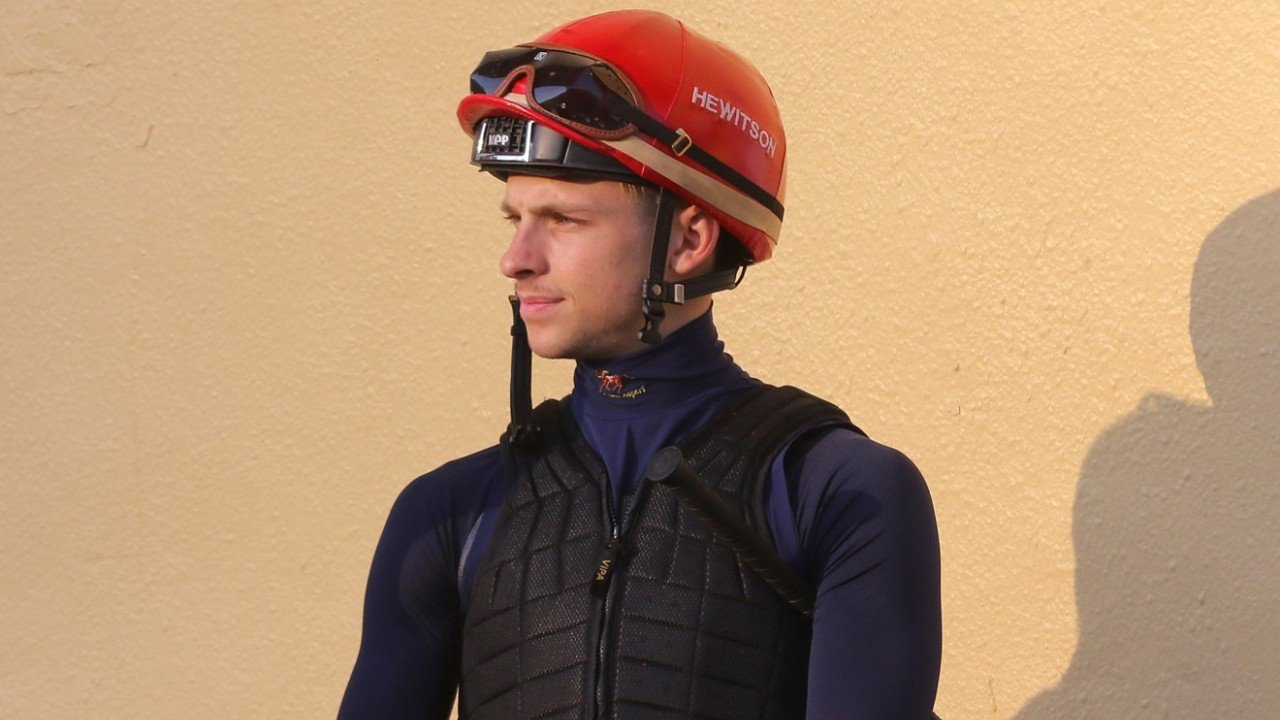 Jockey Lyle Hewitson and trainer Danny Shum Chap-shing at Happy Valley Barrier trial. 20SEP19
