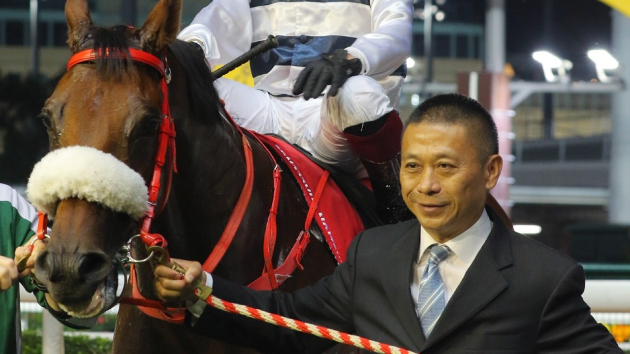 Race 5, Danny Shum, his horse Harmony Victory ridden by Alexis Badel won the class 1 over 1650m at Happy Valley on 26Feb20.
