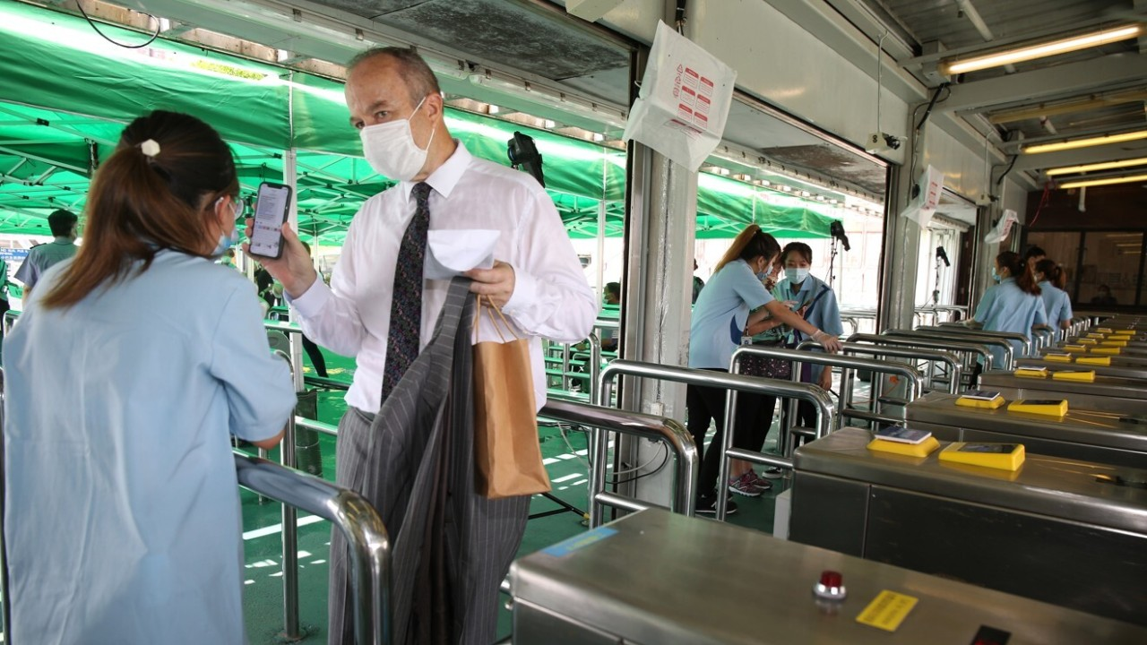 Public area table first open racing fans in this season at Sha Tin Racecourse on 20Sep20.
