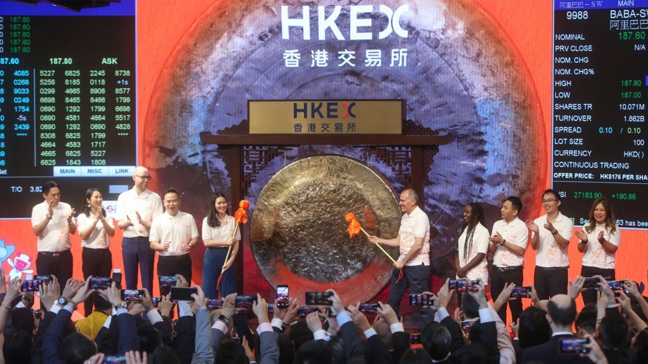 Chinese e-commerce giant Alibaba starts trading on Hong Kong stock exchange