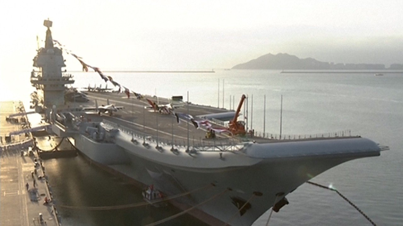 First made-in-China aircraft carrier, the Shandong, enters service